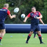 Jamie George (right) will hope to get some game time against Uruguay in Manchester
