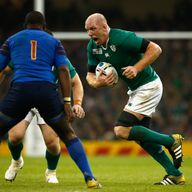 Paul O' Connell on the charge against France - will he feature again for Ireland?