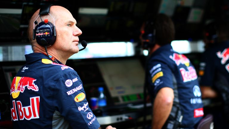 Adrian Newey has voiced fears over the dominance of Mercedes and Ferrari