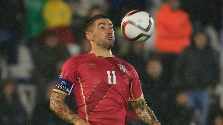 Aleksandar Kolarov was part of the Serbia side that lost to Poland on Thursday