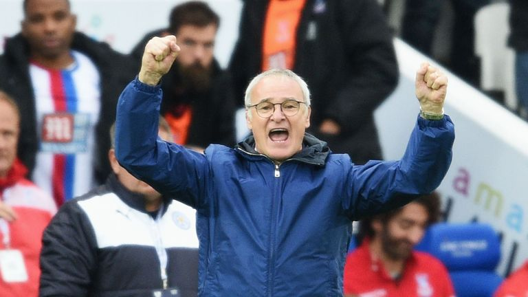Ranieri has led Leicester to the top of the Premier League