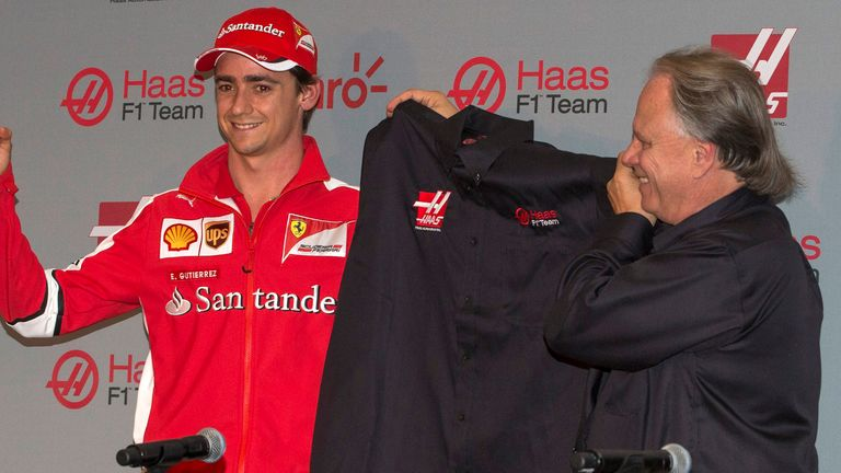 Esteban Gutierrez will pilot the second Haas car