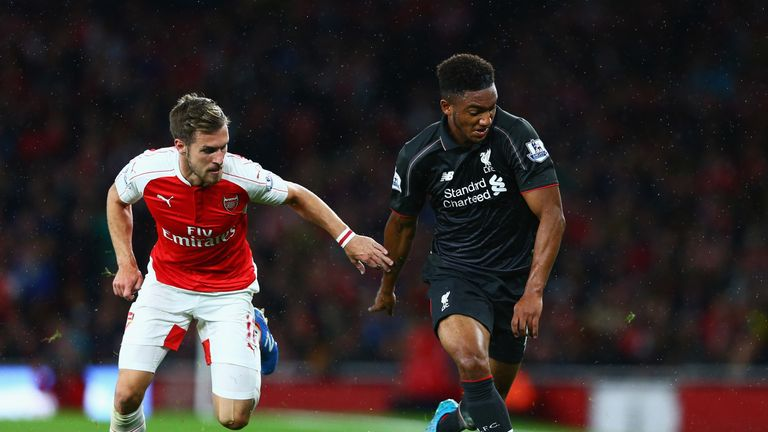 Gomez (right) impressed in a 0-0 draw with Arsenal in August