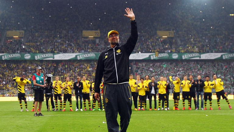Dortmund's attacking playing style won Klopp many admirers
