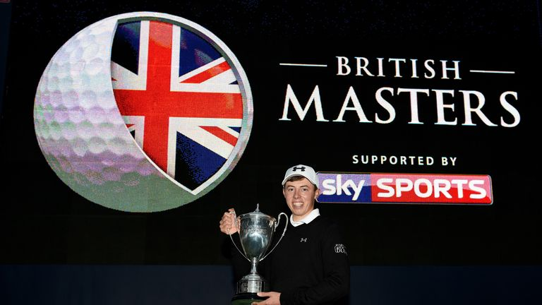 Matt Fitzpatrick claimed his maiden professional title at last year's British Masters