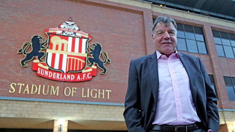 New Sunderland manager Sam Allardyce arrives at the Stadium of Light