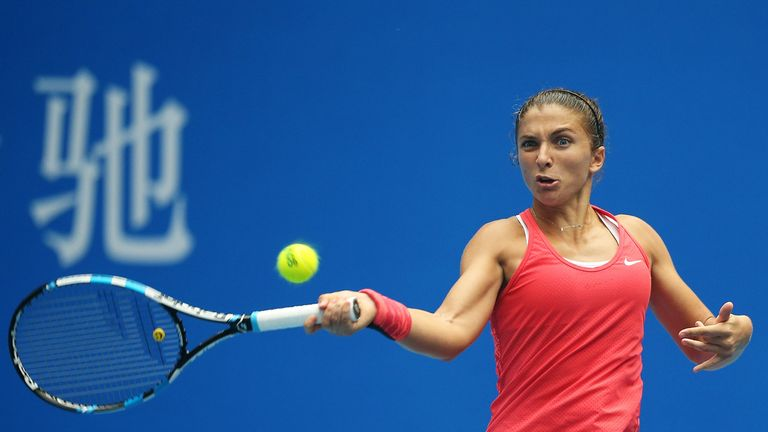 Errani pictured during a game at the 2015 China Open