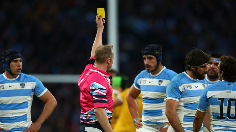 Tomas Lavanini is sent to the sin-bin for his tackle on Folau