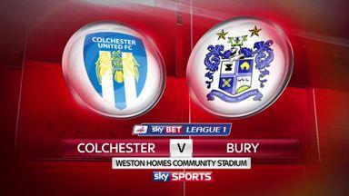 Colchester 0-1 Bury