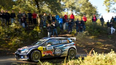 Jari-Matti Latvala of Finland in action in the Rally of France