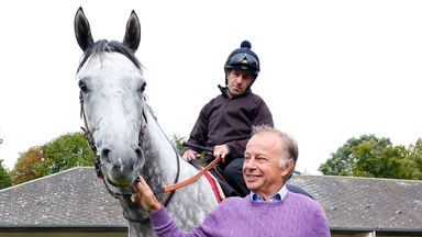 Solow with Freddy Head at his yard in Chantilly.