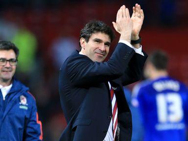 Middlesbrough manager Aitor Karanka celebrates winning the shoot-out