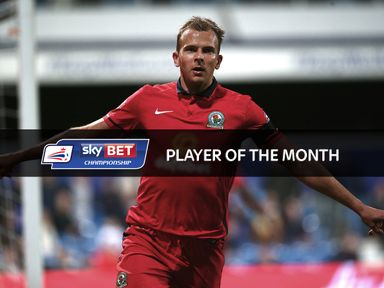 Blackburn's Jordan Rhodes is the Sky Bet Championship Player of the Month for September