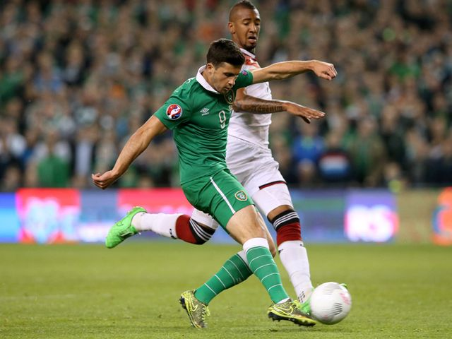 Shane Long scores the winning goal v Germany