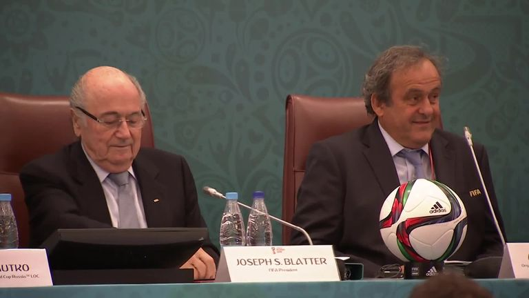 Blatter and Michel Platini were originally banned for eight years
