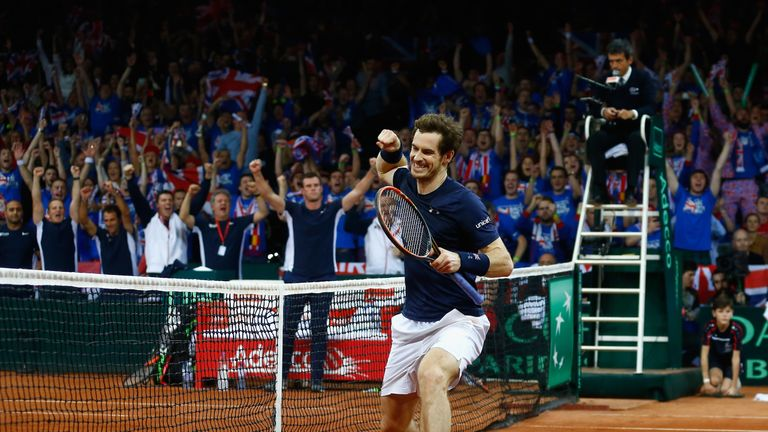 Andy Murray can seal the Davis Cup win on Sunday