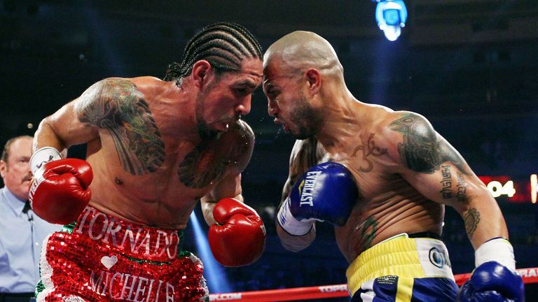 Antonio Margarito (left) wants a third fight with Miguel Cotto but claims his old rival is scared