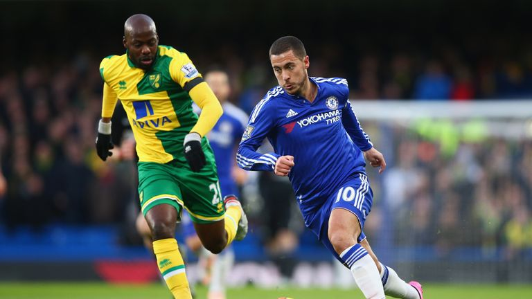 Eden Hazard (right) looked somewhere close to his brilliant best against Norwich on Saturday