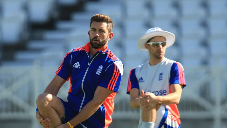 Liam Plunkett (left) will replace Mark Wood (right) in the England squad