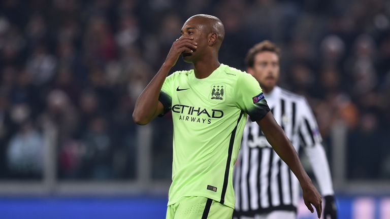 Fernandinho missed a superb chance in the defeat to Juventus - meaning Man City may have to settle for second