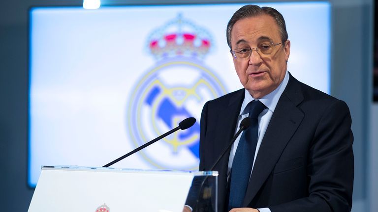 Florentino Perez is to stay on as Real Madrid president until 2021
