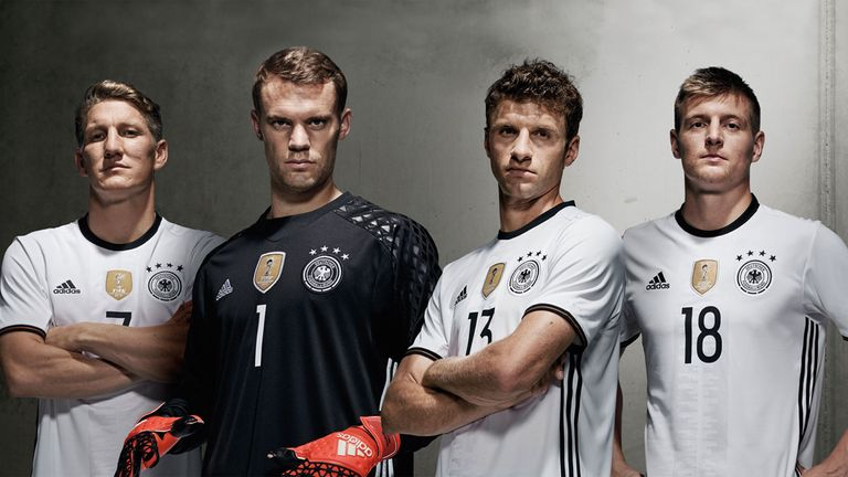 Despite Manuel Neuer's poor attempt at looking threatening, Germany will wear the FIFA World Champions badge on their new kit