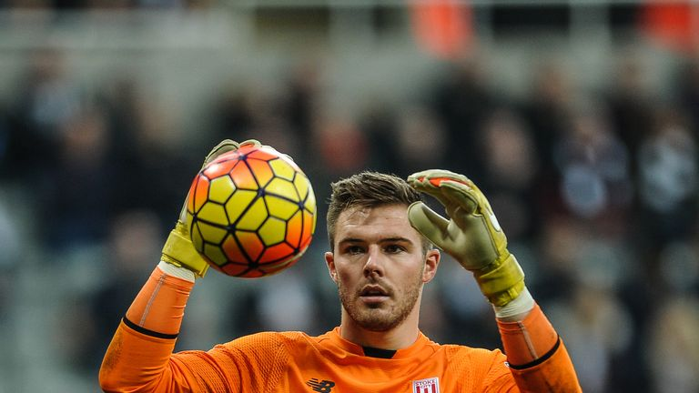 Stoke City goalkeeper Jack Butland has been ever-present this season