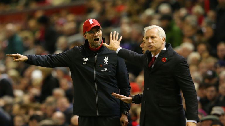 Alan Pardew's Crystal Palace got the better of Klopp's Liverpool at Anfield