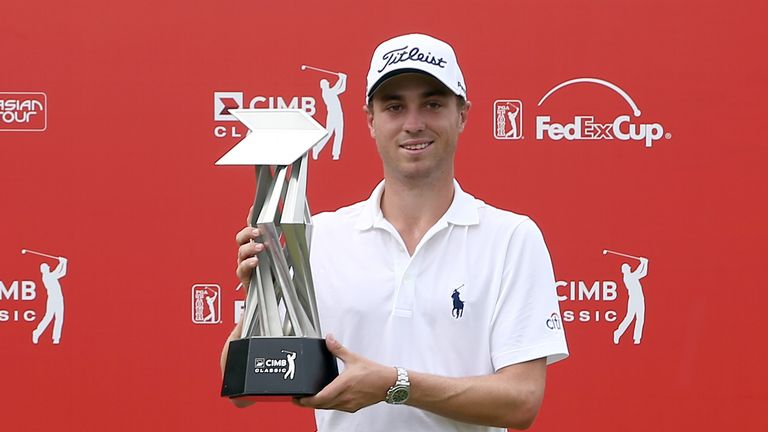 Thomas earned his maiden victory at the CIMB Classic