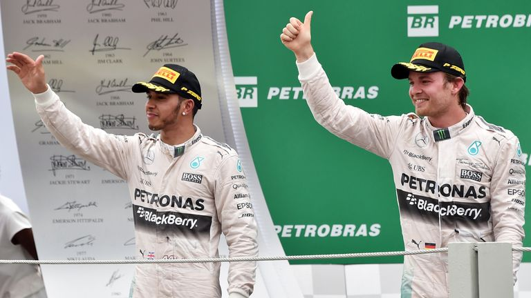Aiming to sign off on a high: Lewis Hamilton and Nico Rosberg