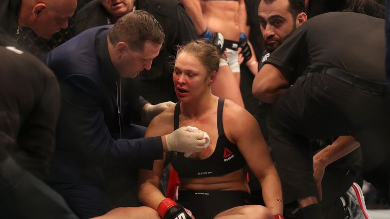 Ronda Rousey was knocked out by Holly Holm at UFC 193