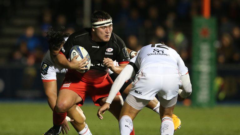 Jamie George takes on Toby Flood
