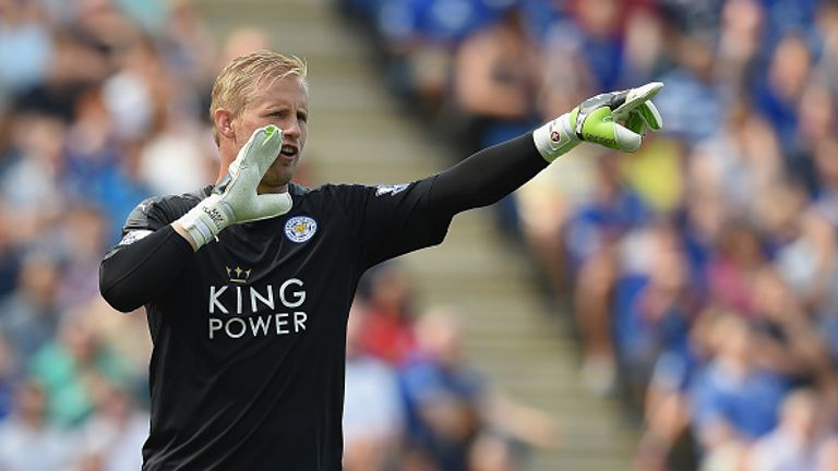 Kasper Schmeichel has been ever-present for the Foxes so far this season