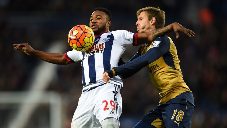Stephane Sessegnon (L) is a doubt for West Brom