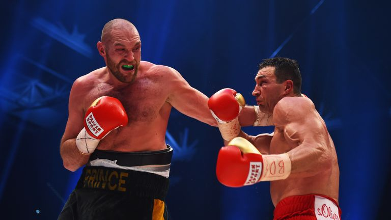 Tyson Fury (left) dethroned Wladimir Klitschko