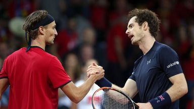 Andy Murray shakes hands with Ruben Bemelmans after his Davis Cup final victory