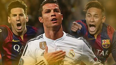 Lionel Messi, Cristiano Ronaldo and Neymar have been shortlisted for the 2015 Ballon d'Or