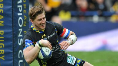 Strettle is all smiles as he scores his second try