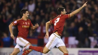 Nottingham Forest's Nelson Oliveira  got the only goal of the game