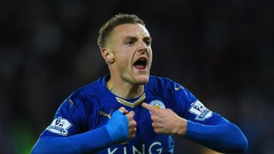 Jamie Vardy has scored 18 Premier League goals for Leicester City so far this season