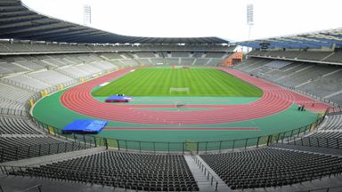 The King Baudouin stadium was set to host the international friendly