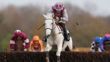 Smad Place clears the last on the way to winning the Hennessy by 12 lenghs