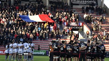 Toulouse and Oyonnax observe a minute's silence for the victims of the Paris attacks