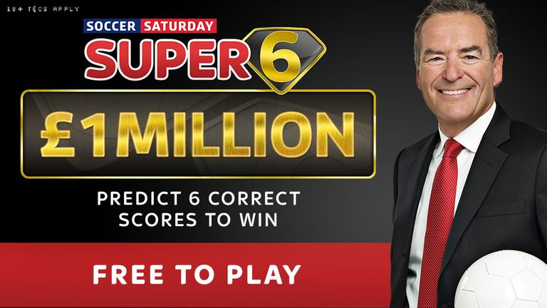 Enter the £1million round of the Soccer Saturday Super 6 game