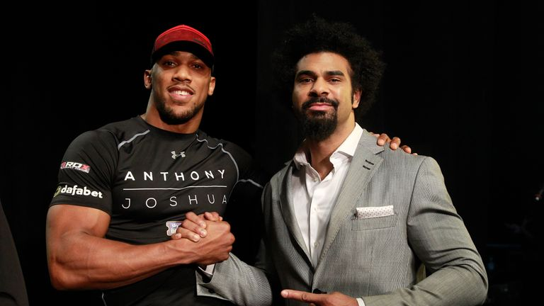 Anthony Joshua and David Haye are on a heavyweight collision course (Pic by Lawrence Lustig)