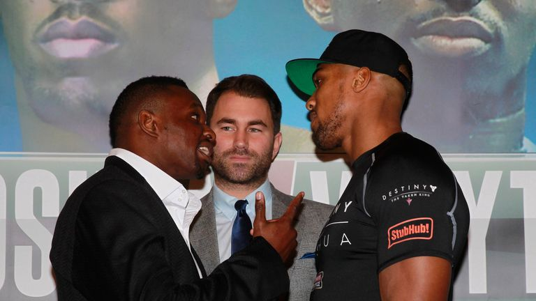 Dillian Whyte and Joshua go head-to-head