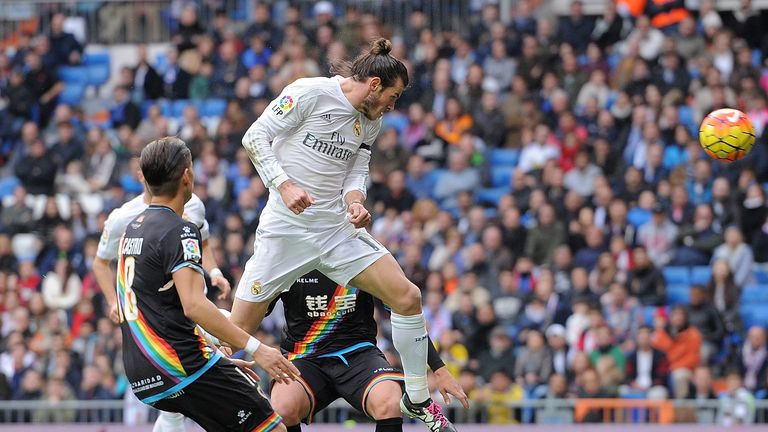 Gareth Bale scored four goals for Real Madrid against Rayo Vallecano