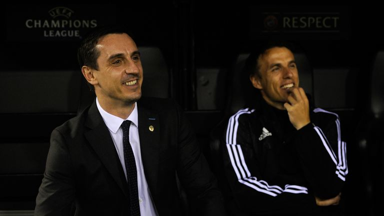 Phil Neville coached under brother Gary at Valencia last year