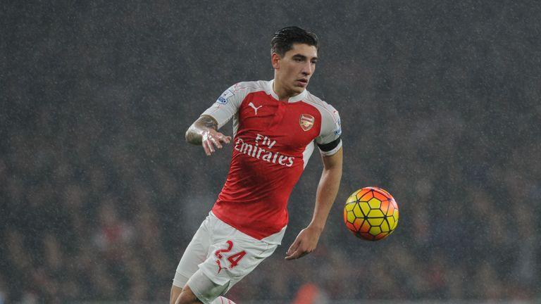 Arsenal's Hector Bellerin has played 24 times in the Premier League in 2015/16