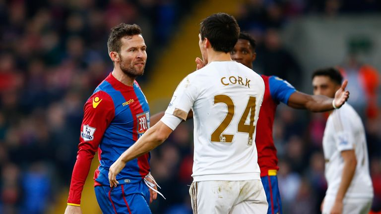 Yohan Cabaye (left) is suspended for Palace